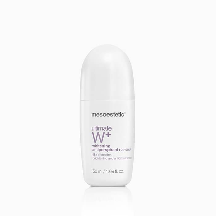 MESOESTETIC Ultimate W+ Whitening Antiperspirant Roll On antyperspirant roll-on przeciw przebarwieniom 48h 50ml