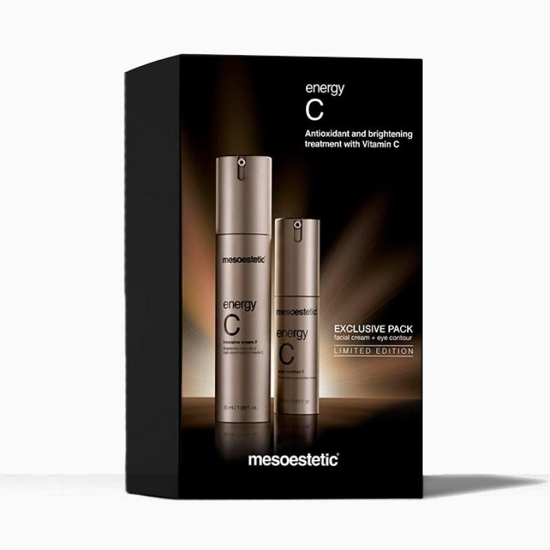 MESOESTETIC Energy C Zestaw krem do twarzy 50ml + rozświetlający krem pod oczy 15ml