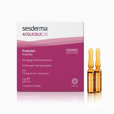 SESDERMA Acglicolic 20 ampułki złuszczająco – napinające 5 x 2ml