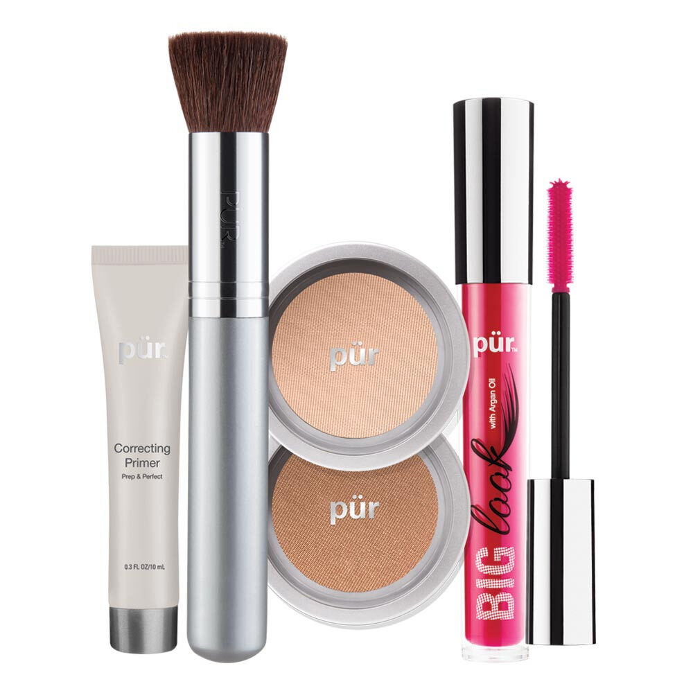 PUR Start Now 5-Piece Beauty-To-Go Collection Kit zestaw do makijażu GOLDEN MEDIUM