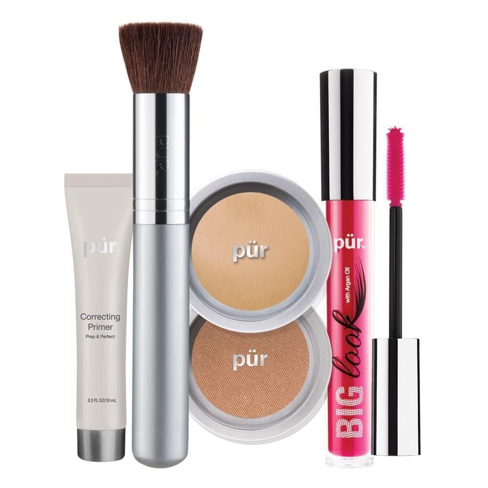 PUR Start Now 5-Piece Beauty-To-Go Collection Kit zestaw do makijażu LIGHT TAN
