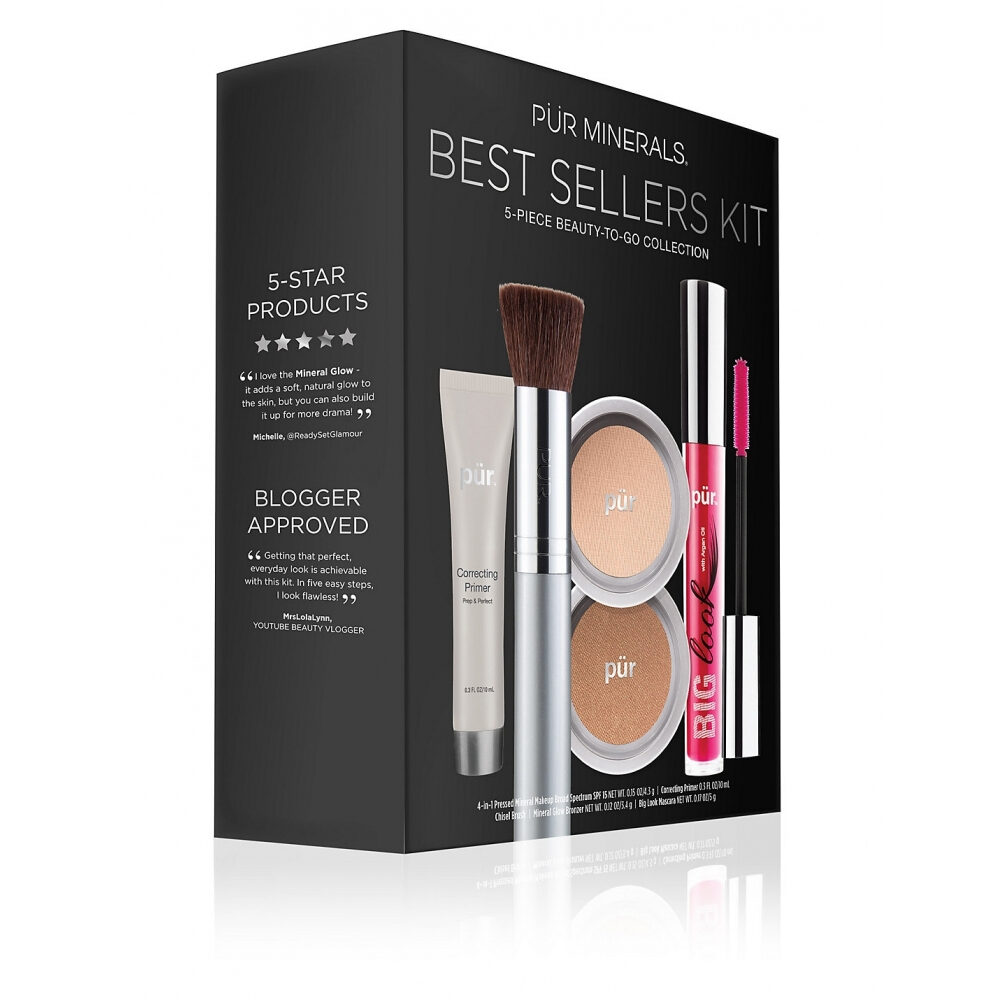 PUR Start Now 5-Piece Beauty-To-Go Collection Kit zestaw do makijażu
