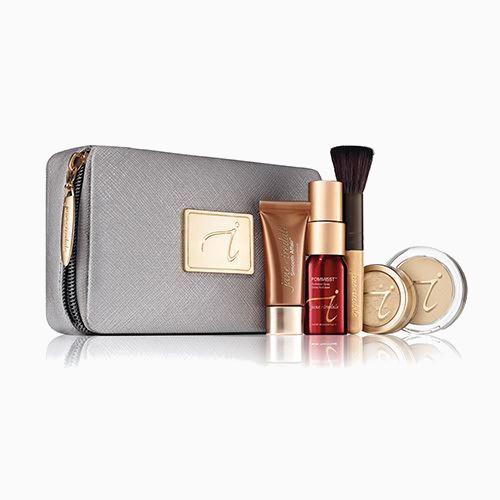 JANE IREDALE Starter Kit zestaw startowy do makijażu z kosmetyczką MEDIUM